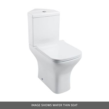 Harbour Alchemy Corner Toilet & Soft Close Seat - 783mm Projection - Wafer Thin Soft Close Toilet Seat
